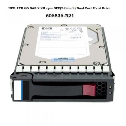 HPE 1TB 6G SAS 7.2K rpm SFF (2.5-inch) Dual Port Midline Hard Drive SEALED [605835-B21] For Gen 6, Gen 7