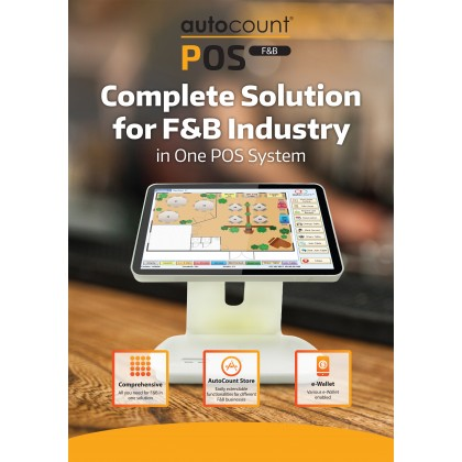 AutoCount F&B POS 5.0 Standard Edition (With Training & Support)