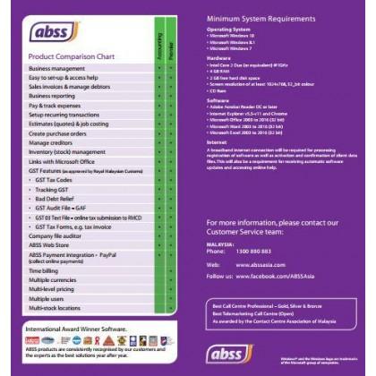 ABSS (MYOB) Premier Version 23.8 Single User Software ~ FREE SHIPPING  + FREE BITDEFENDER INTERNET SECURITY